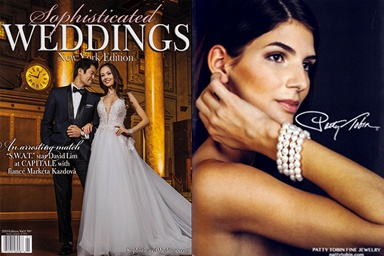 Patty Tobin Statement Pearl Styles Featured In 2019 Sophisticated Weddings Magazine